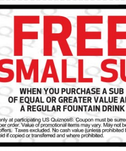 Quiznos Small Sub Coupon