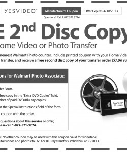 Walmart Photo Video Transfer Copy Coupon