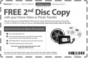 Free Walmart Photo Video Transfer Copy Coupon