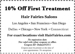 Hair Fairies Salons 10 Percent Off Coupon