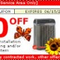 Hannabery HVAC Manufacturers Coupon