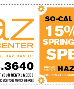 Haz Rental Center Coupon