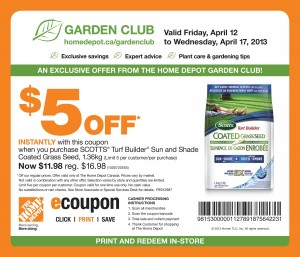 Home Depot Garden Club Coupon