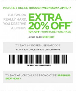 JC Penny Coupon