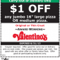 Valentinos Pizza Coupon
