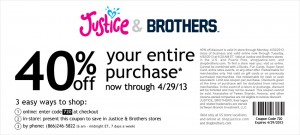Justice and Brothers Store Coupon and Code