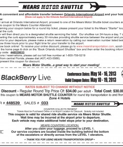 Mears Motor Shuttle Coupon
