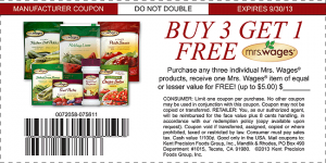 Mrs Wages Free Coupon