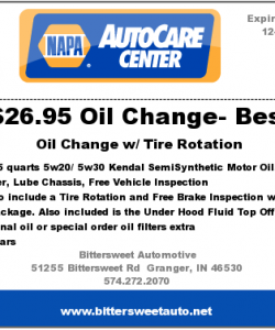 Napa Auto Care Center Coupon