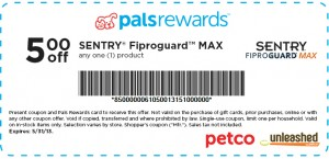 Petco Coupon Sentry Fiproguard Max