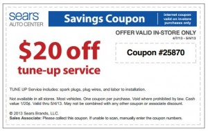 Past Sears Coupon Codes