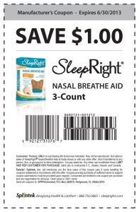 Sleep Right Nasal Breathe Aid Coupon
