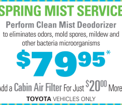 Toyota Air Filter Coupon