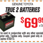 Toyota True 2 Batteries Coupon