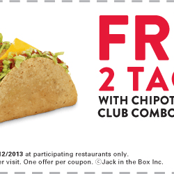 Jack in the box printable coupons 2018