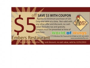 World of Wings Coupon