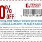 Famous Footwear Coupon 2013
