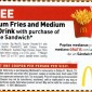 Free Fries and Soda McDonald's Coupon