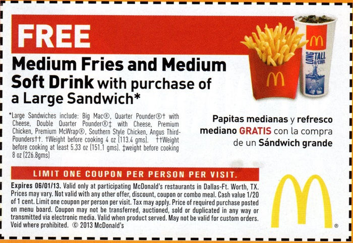 Learn more about latest McDonald's Coupons and Deals. Find your delicious deal today!