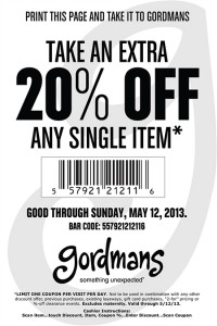 Gordmans Coupon 2013