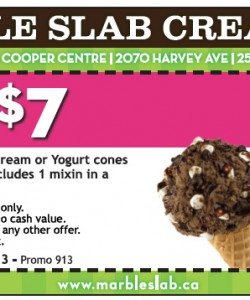 Marble Slab Creamery Ice Cream Coupon