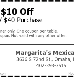 Margaritas mexican restaurant coupons