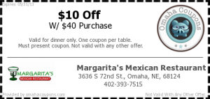 Margaritas Mexican Restaurant Dinner Coupon