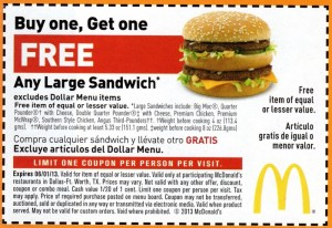 McDonalds Coupon Free Sandwich