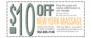 New York Massage Printable Coupon