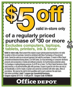 Office Depot Coupon 2013