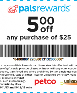 Petco Coupon $5 Off Purchase