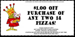 Pizza King Rochester Coupon