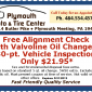 Plymouth Auto Alignment Oil Change Coupon