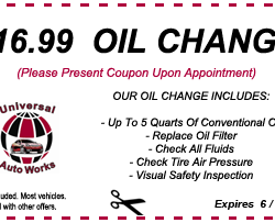 Universal AutoWorks Coupon