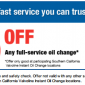 Valvoline Full Service Oil Change Coupon