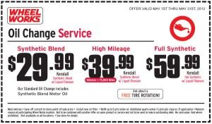 Wheel Works Oil Change Coupon