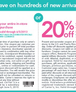 image regarding Carters Printable Coupons identify Carters Coupon 2013 Print Coupon King