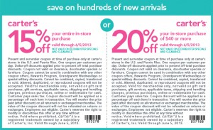Carters Coupons 2013