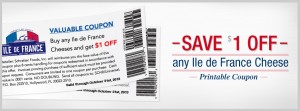 Ile de France Cheese Coupon 2013