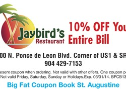 Jaybirds Restaurant Coupon 2013