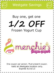 Menchies Frozen Yogurt Coupon 2013