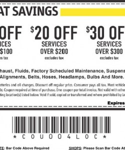 Midas Coupon 2013