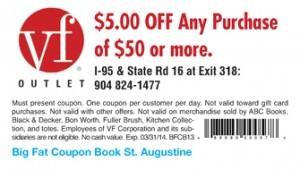 St Augustine VF Outlet Coupon 2013