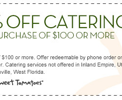 Sweet Tomatoes Catering Discount Coupon