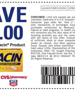 Anacin Discount Coupon