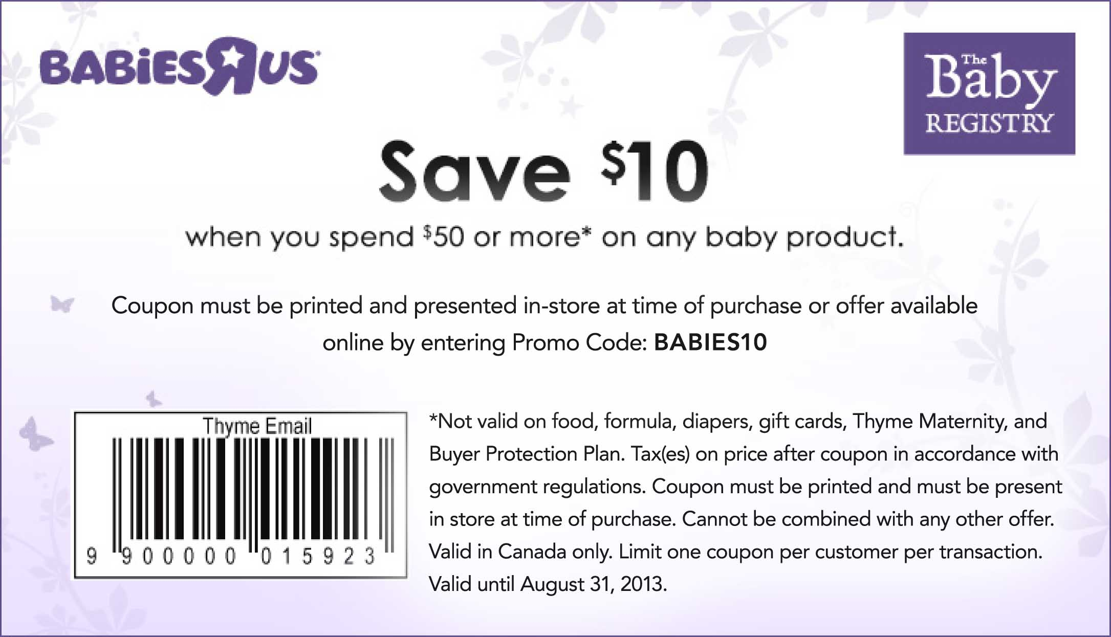Coupon code babies r us