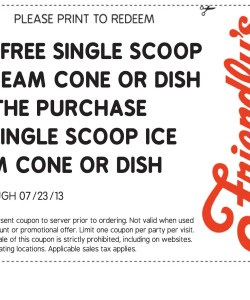 Free Ice Cream At Friendly's
