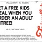 FRIENDLY'S FREE KIDS MEAL COUPON