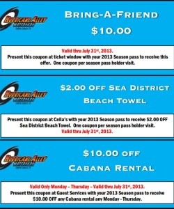 Hurricane Alley Waterpark Coupon