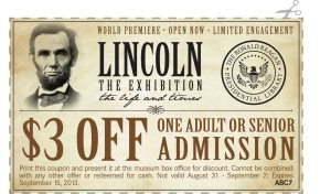 Lincoln Exhibition Admission Coupon